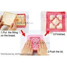 Japanese Bento Lunch Sandwich Cutter Bite Size Heart  DIY crustables maker