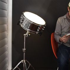 326 Snare Drum Light. Way cool. @Daryl Milne Romkey