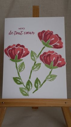 Ideacreations: Bouquet of Flowers! Homemade Greeting Cards, Greeting Cards Handmade, Art Carte, Punch Art Cards, Hand Stamped Cards, Stampinup, Flower Patch, Bunch Of Flowers, Birthday Cards For Men