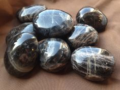 Scolecite Palm Stone - The Lightworkers Stone - For heart awakening & connecting… Gems And Minerals, Crystals Minerals, Crystals And Gemstones, Stones And Crystals, Healing Stones, Healing Crystals, Geode Jewelry, Black Moonstone, Black Crystals
