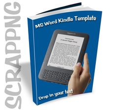 MS Word Kindle Template for Authors using Microsoft Word - $5.00 : ScrapPNG, Transparent PNG Graphics