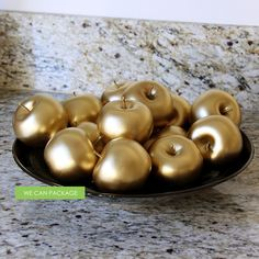 Gold Apple Wedding Centerpiece Decorations Ideas DIY