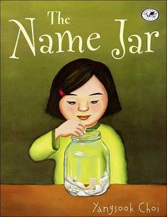 The Name Jar by Yangsook Choi is such a lovely book. The main character is Unhei a little girl who has just immigrated from Korea. She is trying to decide on an easy to pronounce American name and her new class helps by offering up suggestions and places them in a name jar. As she gets used to her new surroundings and develops friendships she realizes she doesn't need an American name after all.  I really loved this book because there are so many great lessons.