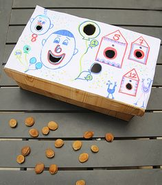 Shoebox Carnival Toss Craft For Kids
