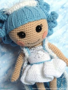 Lalaloopsy Ivory Ice Crystals crocheted Must learn to make these for the girls Crochet Fairy, Love Crochet, Crochet Dolls, Knit Crochet, Crochet Hats, Easy Crochet Projects, Easy Crochet Patterns, Amigurumi Doll, Crochet Animals