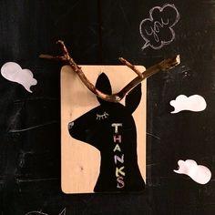 Make chalkboard deer / willowday