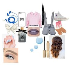 """""""Untitled #4"""" by bgkitten ❤ liked on Polyvore featuring Local Heroes, Converse, Socksmith Design, FOSSIL, Monsoon, Givenchy, Jeffree Star, Stila, Torrid and Topshop"""