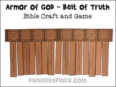 Armor of God - Belt of Truth Bible Craft and Bible Game from www.daniellesplace.com