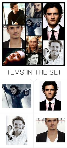 """orlando bloom"" by heartandsoul ❤ liked on Polyvore featuring art"