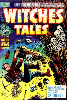 Witches Tales #26, Lee Elias Cover (Harvey, 1954)