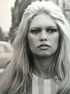 Brigitte Bardot on the set of Les Femmes, 1969.