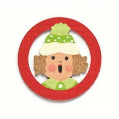 Embellish Your Story Caroler Girl with Green Hat Magnet - Embellish Your Story Roeda 100753-EMB