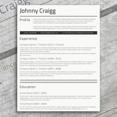Check Out Modern Border Resume Template By Inkpower On Creative