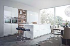 Cocina con muebles lacados - Descubre las ventajas de las cocinas sin tiradores