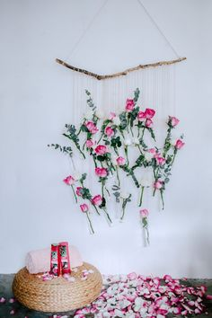 A Pair & A Spare | DIY Floral Vase Wall Hanging (Using rose and eucalyptus!)