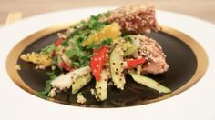 Let's something We've got an amazing new for you this week. Bonito in sesame - with and Tuna, Food Videos, Beef, Fish, Vegetables, Cooking, Healthy, Amazing, Recipes
