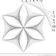 Free Printable String Art Patterns Flowers