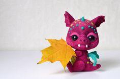Needle felted little dragon Phil by Fenekdolls on Etsy