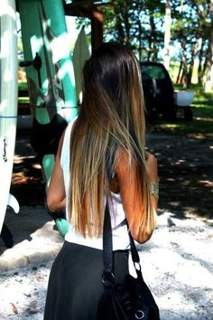 Long straight ombre hair inspiration