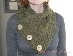 Jane's Girl Designs: Crocheted Cowl Tutorial