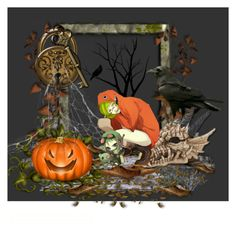 """""""Halloween"""" by lagunafladoodle ❤ liked on Polyvore featuring art"""