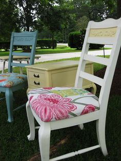 repainted and recovered chairs