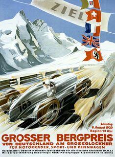 Grosser Bergpreis von Deutschland Fine Art Vintage Giclee Print