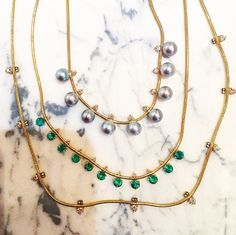 #JemmaWyne #necklace #finejewelry #jewelry #JaimieGellerJewelry For more info about these necklaces email us at shop@jaimiegellerjewelry.com