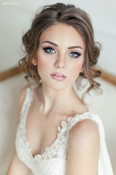 simple wedding makeup Schnes Make-up Simple Wedding Makeup, Beach Wedding Makeup, Natural Wedding Makeup, Bridal Hair And Makeup, Wedding Hair And Makeup, Wedding Beauty, Hair Makeup, Eye Makeup, Makeup Lipstick