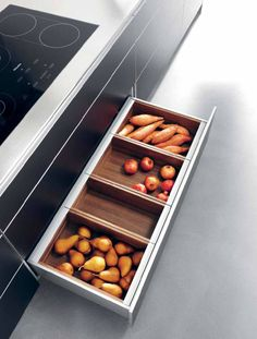 bulthaup, drawer organization, removable trays