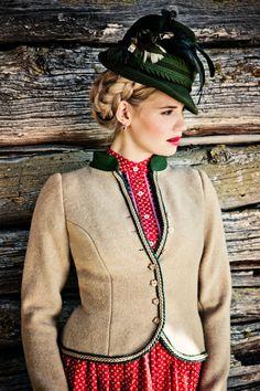 FRITZI WALKJANKER beige - Lena Hoschek Dirndl Spring Summer 2014 - Lena Hoschek Tradition