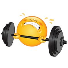 lifting weights sticker