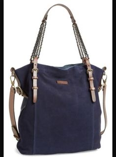 ANTHROPOLOGIE-Liebeskind-Fabala-Suede-Leather-Tote-348