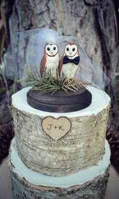 Owlweddingcake by MorganTheCreator on Etsy, $44.00