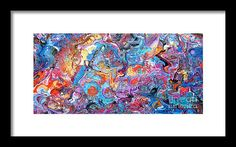 #1709 Riotous Rainbow Framed Print by Expressionistart studio Priscilla Batzell.  All framed prints are professionally printed, framed, assembled, and shipped within 3 - 4 business days and delivered ready-to-hang on your wall. Choose from multiple print sizes and hundreds of frame and mat options.