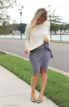 NO SEW - Wrap Around Tulip Skirt diy