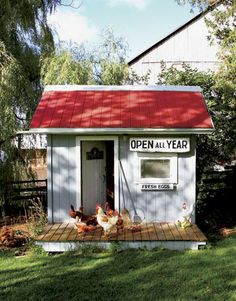 hen house . love the sign ...