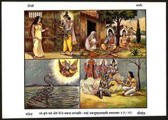 "DRAUPADI & SHABRI 6.5""x9.5"" 1939 Hindu print ex Kalyan – India Ӝ picclick.com"