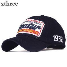 a35e9d09b58 Xthree cotton baseball cap men casual snapback hat for women casquette  Letter embroidery gorras