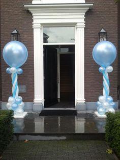 ballondecoratie: pilaar standaard Mooie ballondecoratie, eenvoudig, elegant en feestelijk.