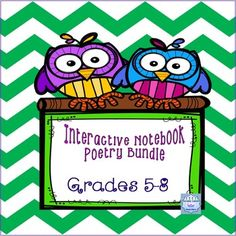 Ive put together an interactive poetry writing notebook for you to use with grades 5-8 and Special Education, included are complete lesson plans.This bundle features  fold-able emplates for flip-books as well as instructions on how to make and use them.