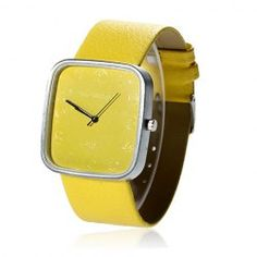 A cheap clothes shopping is easy here. Cheap Watches For Men, Cool Watches, Men's Watches, Yellow Fashion, Yellow Leather, Sunglasses Sale, Fashion Watches, Fashion Accessories, Stylish