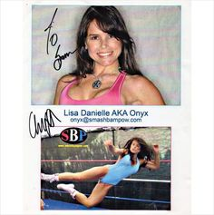 8 X 10 Autographed Photo of Lisa Danielle AKA ONYX