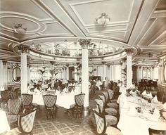 Interior of the Lusitania, 1905-1907  beautiful... what a shame