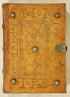 The Morgan Library & Museum - Incunable Bookbinding - PML 128 - Front cover… Old Books, Antique Books, Vintage Books, Medieval Books, Medieval Manuscript, Bookbinding Tools, Precious Book, Book Journal, Journals