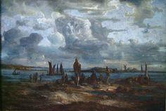 Lars Hertervig, «Vårsildfiske» Nature Paintings, Landscape Paintings, Nordic Art, Plastic Art, Canadian Art, Manga Drawing, Drawing Reference, Van Gogh, Beautiful Images