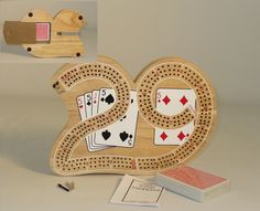 3 Player Cribbage shaped like the number 29