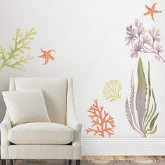 Fathead Martha Stewart Paris Monogram Wall Decal Wall Sticker - Coral monogram wall decal