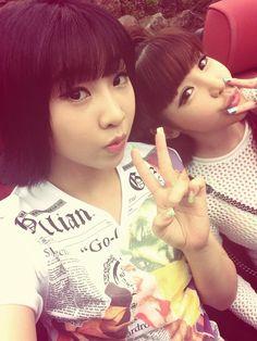 2NE1 Minzy x Park Bom  ㅋㅋㅋ
