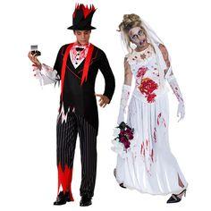 Pareja Novios Zombies #parejas #disfraces #carnaval #novedades2016